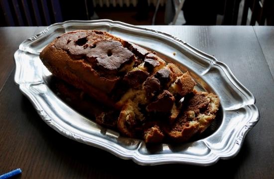 Gâteau marbré sans lait et sans gluten