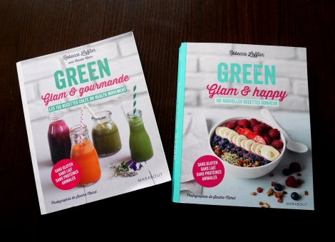 Green glam et gourmande, Green glam et happy : les livres de Rebecca LEFFLER