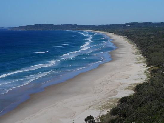 Plage à proximité de Cap Byron, Australie