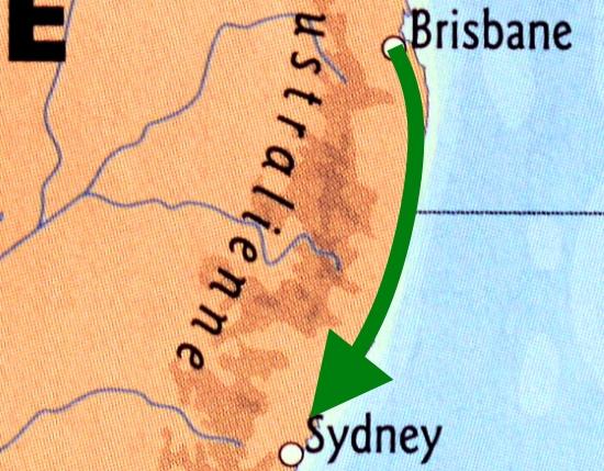 Road-trip Brisbane-Sydney