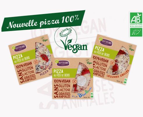 Pizzas vegan et sans gluten Les P'tits Chefs du Bio